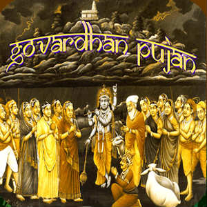 Happy govardhan puja HD wallpaper for whatsapp dp profile