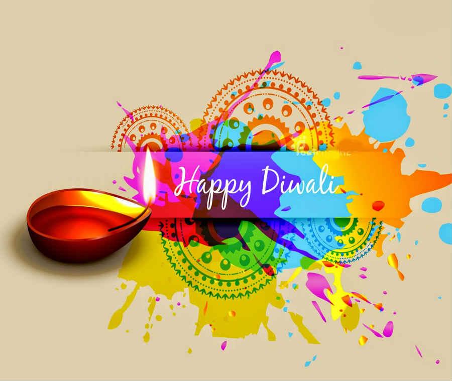 happy diwali with Diya Diwali Greeting online