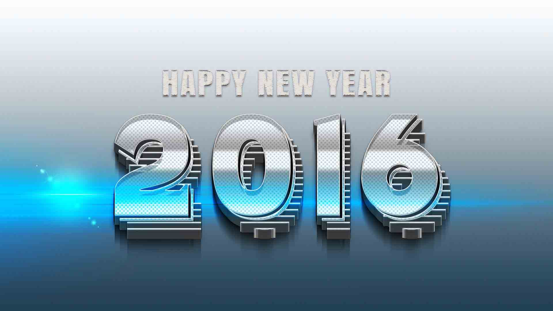 2016 3D text wallpaper to say happy new year dear