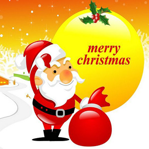 Merry Christmas 2015 Sweet santa whatsapp dp images