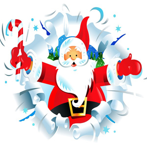 Snowy santa images wallpaper for fb dp photo