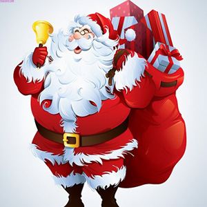 Sweet santa clause whatsapp dp wallpaper for Christmas