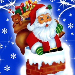 cute santa with gift bag whatsapp dp images wallpaper free download
