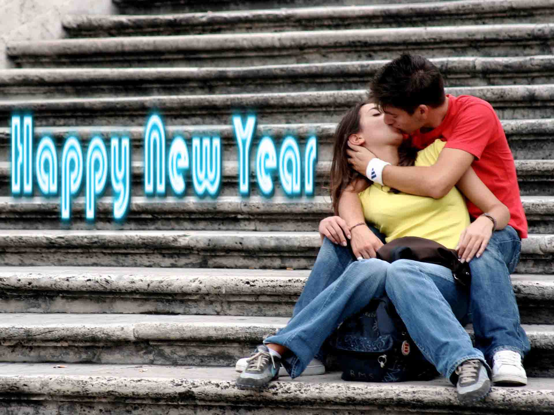 romantic happy new year kissing couple images wallpaper free download