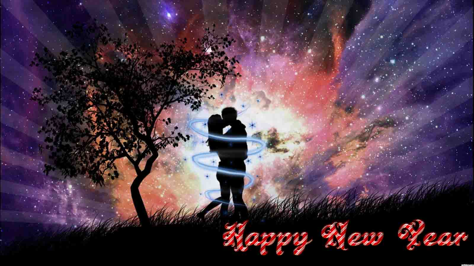 romantic couple hug happy new year 2016 hd wallpaper background