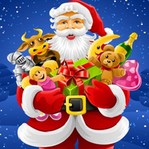 santa with gifts whatsapp fb dp wallpaper