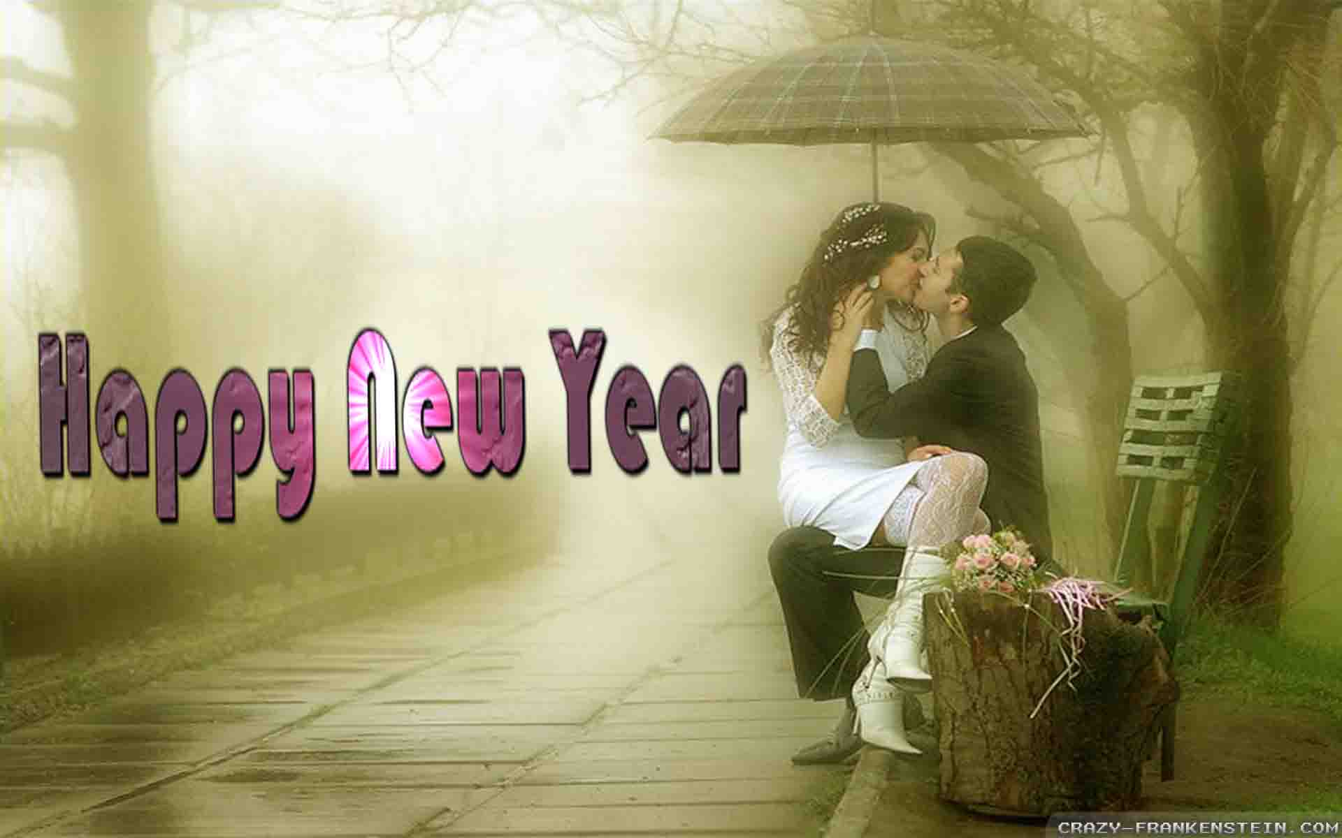 seductive couple sitting in rain new year images wallpaper free download