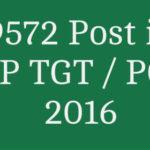 9572 post UP TGT PGT 2016 application form