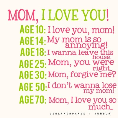 Loving mum whatsapp dp image