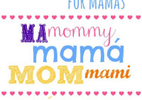 Say Happy mother's day to mom in many languages