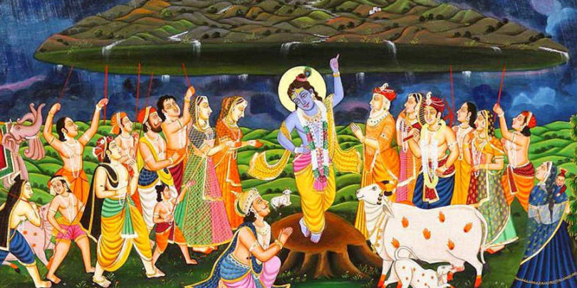 Govardhan puja hd wallpaper for free download