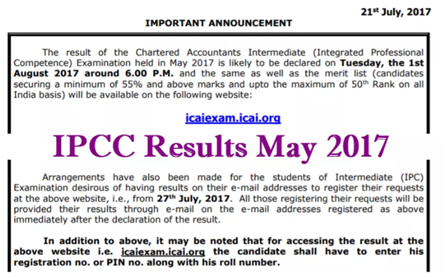 How to check IPCC Result 2017