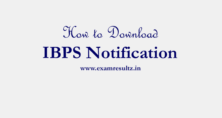 IBPS-Notification