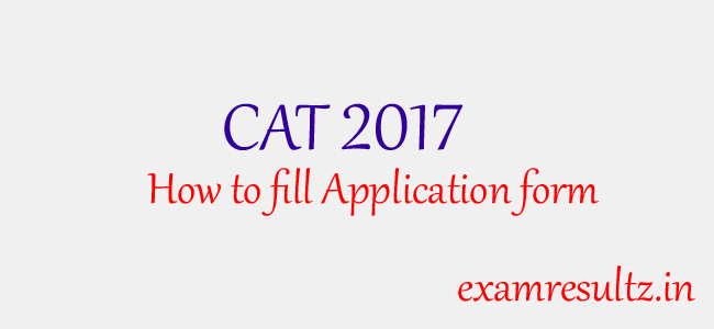 cat 2017 application form online