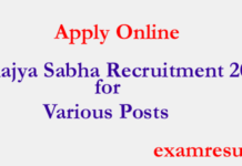 Rajya Sabha recruitment 2017 for various post : Apply now