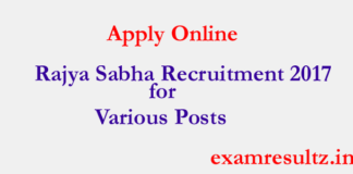 Rajya Sabha recruitment 2017 for various post : Apply now