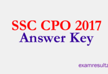 ssc cpo answer key 2017