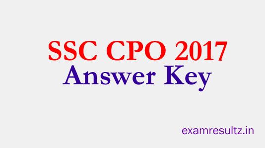 ssc cpo answer key 2017