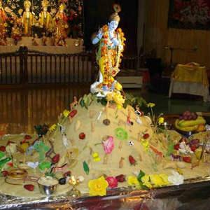 Happy Govardhana whatsapp dp profile wallpaper of lord krishna